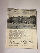 Vintage London Guide Booklet Tourist Book 1945 World War II - $17.28