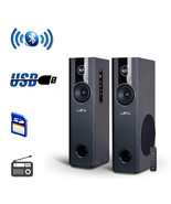 beFree Sound 2.1 Channel BluetoothPowered Black Tower Speakers With Opti... - $122.08