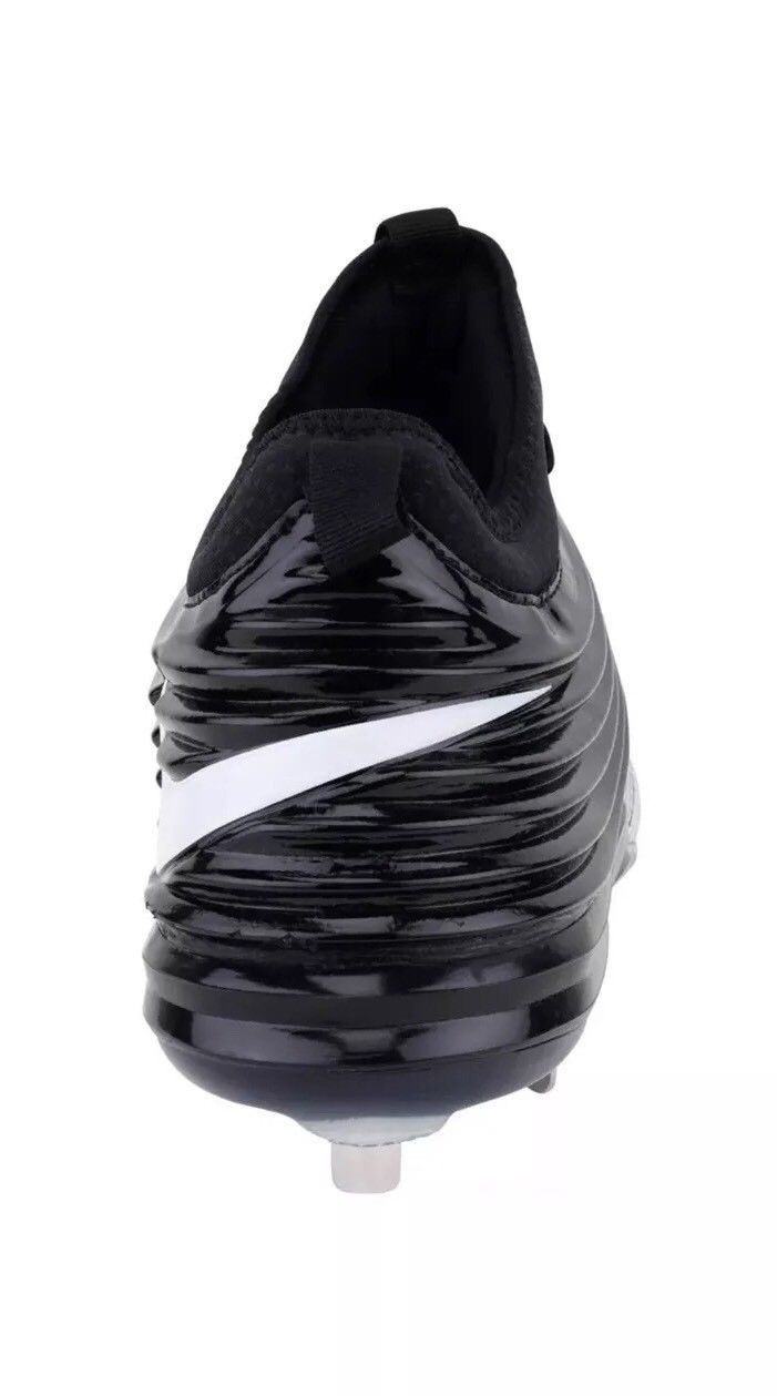d5498aac054 Nike Lunar Trout II Mid Baseball Cleats Metal 807127 010 Black White Size 11