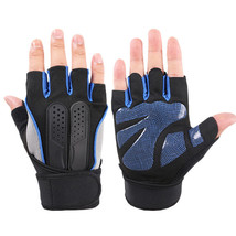 Men Women Fitness Gym Wristband Gloves Outdoor Sports Half Finger Slip R... - $25.99
