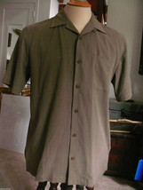 Tommy Bahama Mens Light Brown S/S Silk Shirt Size M - $22.06