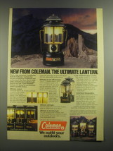 1984 Coleman CL 2 Lantern Ad - New From Coleman. The Ultimate Lantern - $14.99