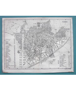 1874 MAP BAEDEKER City Plan - FRANCE Nimes - $12.15