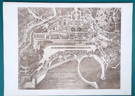 ROMAN VILLA at the Time of Caesars - (9) Nine SUPERB 1905 Espouy Prints - $50.36