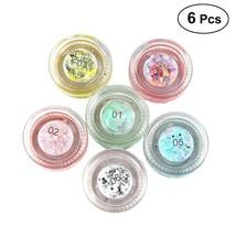 6pcs Shiny Eye Shadow Mermaid Sequins Gel Highlighter Eyeshadow Palette ... - $14.99