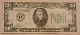 Series 1934 A Twenty Dollar Federal Reserve Note.   - $33.81