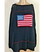 Norton Studio Women's Patriotic Sweater Size 2X  - $20.66
