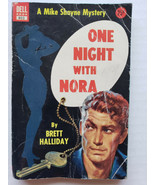 One Night with Nora by Brett Halliday Vintage Dell Crime Mike Shayne Mys... - $8.59