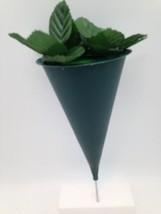 DIY Cemetery Vase Hard Plastic Cone with Metal Spike - $11.79