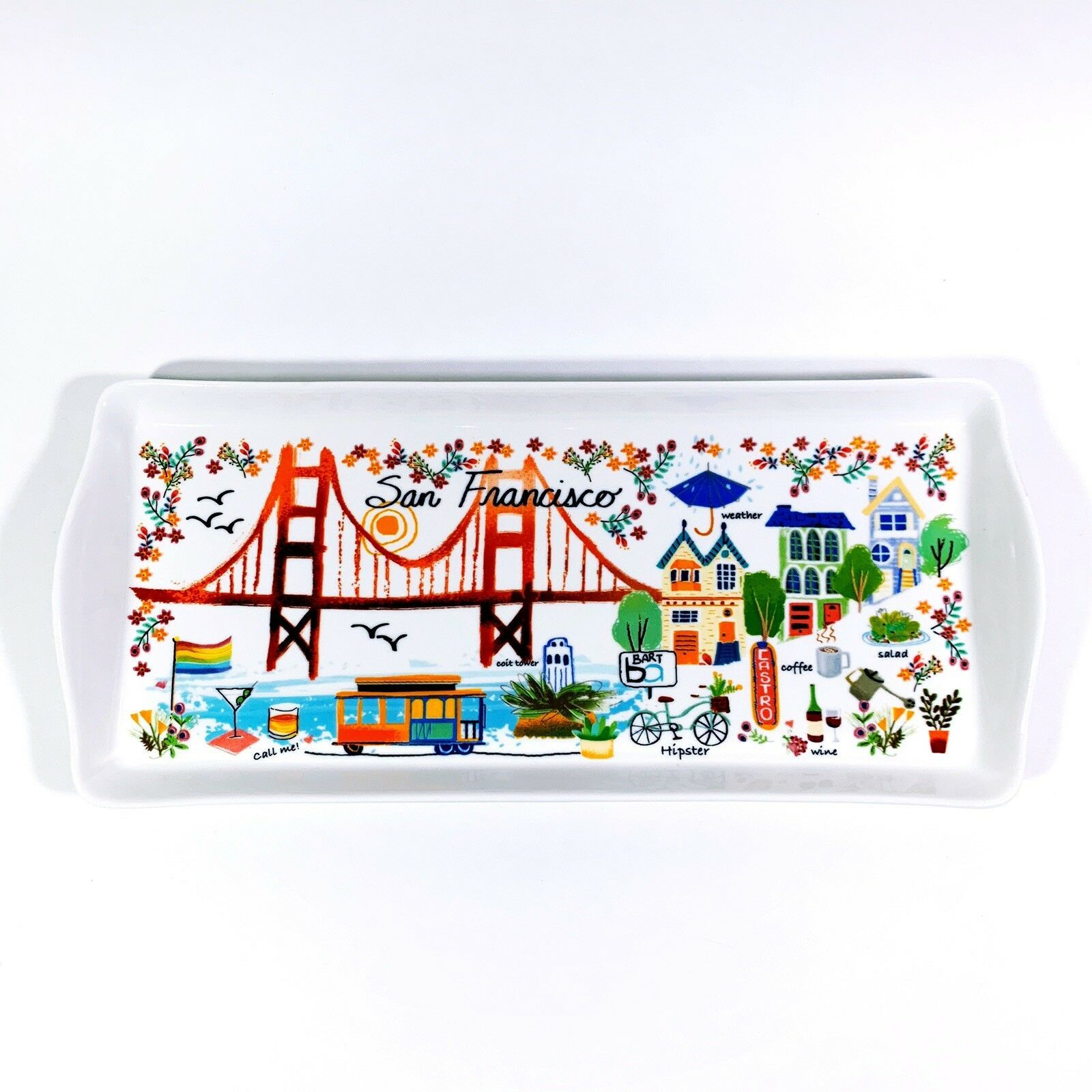 Primary image for New San Francisco San Fran Ceramic Serving Tray Jewelry The Bay Area