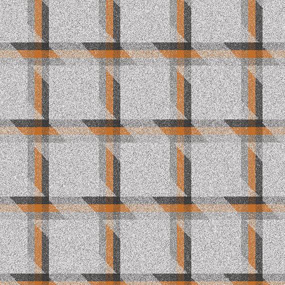 1.625 yds Camira Upholstery Fabric Balance Plaid Wool Symmetry Orange LDB01 RL