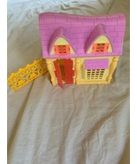 Mattel Disney Princess Rapunzel Yellow Pink Roof Mini Dollhouse Doll Hou... - $15.00