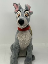 "Disney Store Plush Lady & The Tramp Movie Grey Dog 16"" Sitting Stuffed A... - $14.85"