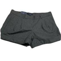 Tommy Hilfiger Womens Shorts Size 16 Gray Wool Blend  Cuffed NWT - $18.97