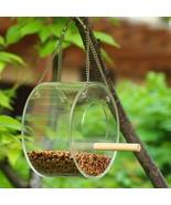 Hanging Pet Bird Transparent Feeder Round Type Birds Food Container Disp... - £16.40 GBP