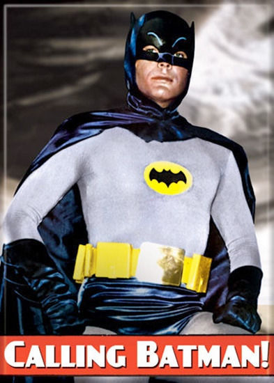 Primary image for Batman 1960's TV Series Calling Batman! Adam West Photo Refrigerator Magnet NEW