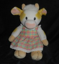 "14"" VINTAGE 1998 ENESCO MARY'S MOO MOOS PATTY COW GIRL STUFFED ANIMAL TO... - $32.73"