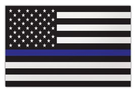 Crazy Sticker Guy Giant Size Magnet - Thin Blue Line United States Flag - Suppor - $16.99