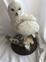 Snowy Owl on Rocks with Snow Country artists Hand Painted Hand Crafted V... - $98.99