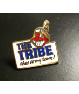 The Tribe This Is My Team! Pin Cleveland Indians Chief Wahoo White Backg... - $8.99