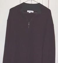 Calvin Klein Mens XL 1/2 Zip Neck Long Sleeve Maroon Sweater - $13.46
