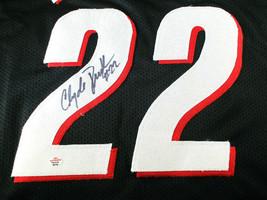 CLYDE DREXLER / NBA HALL OF FAME / AUTOGRAPHED TRAIL BLAZERS CUSTOM JERSEY / COA image 3