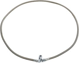 """48"""" Steel Braided Turbo Oil Feed Line -4AN 90 Degree Straight Ends Teflon Core image 9"""