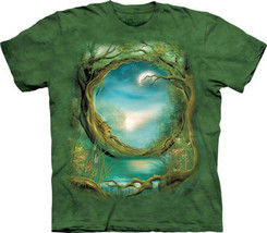 Moontree Fantasy Art Hand Dyed Green Adult T-Shirt, NEW UNWORN - $14.50