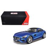 Mercedes AMG GT Metallic Blue Exclusive Edition 1/18 Diecast Model Car  ... - $75.64