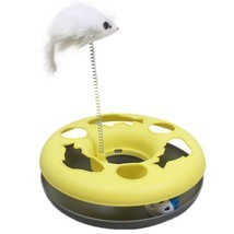 Toys For Cats Spring Mice Amusement Multifunctional Disk Play Activity Pets - £11.85 GBP