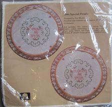 1989 Cross Stitch Special People Daughter Grandma Hoop Kit Grandchild Bib Clock - $16.99