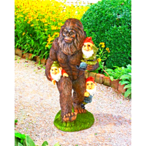 Schlepping the Garden Gnomes Bigfoot Statue - $66.00