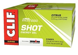 CLIF SHOT - Energy Gel - Citrus - With Caffeine 1.2 Ounce Packet, 24 Count - $24.85