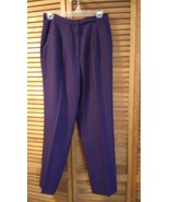 Purple Dress Pants size 8 Women waist is 28 inseam 29 Lined by Raffinatt - $6.95