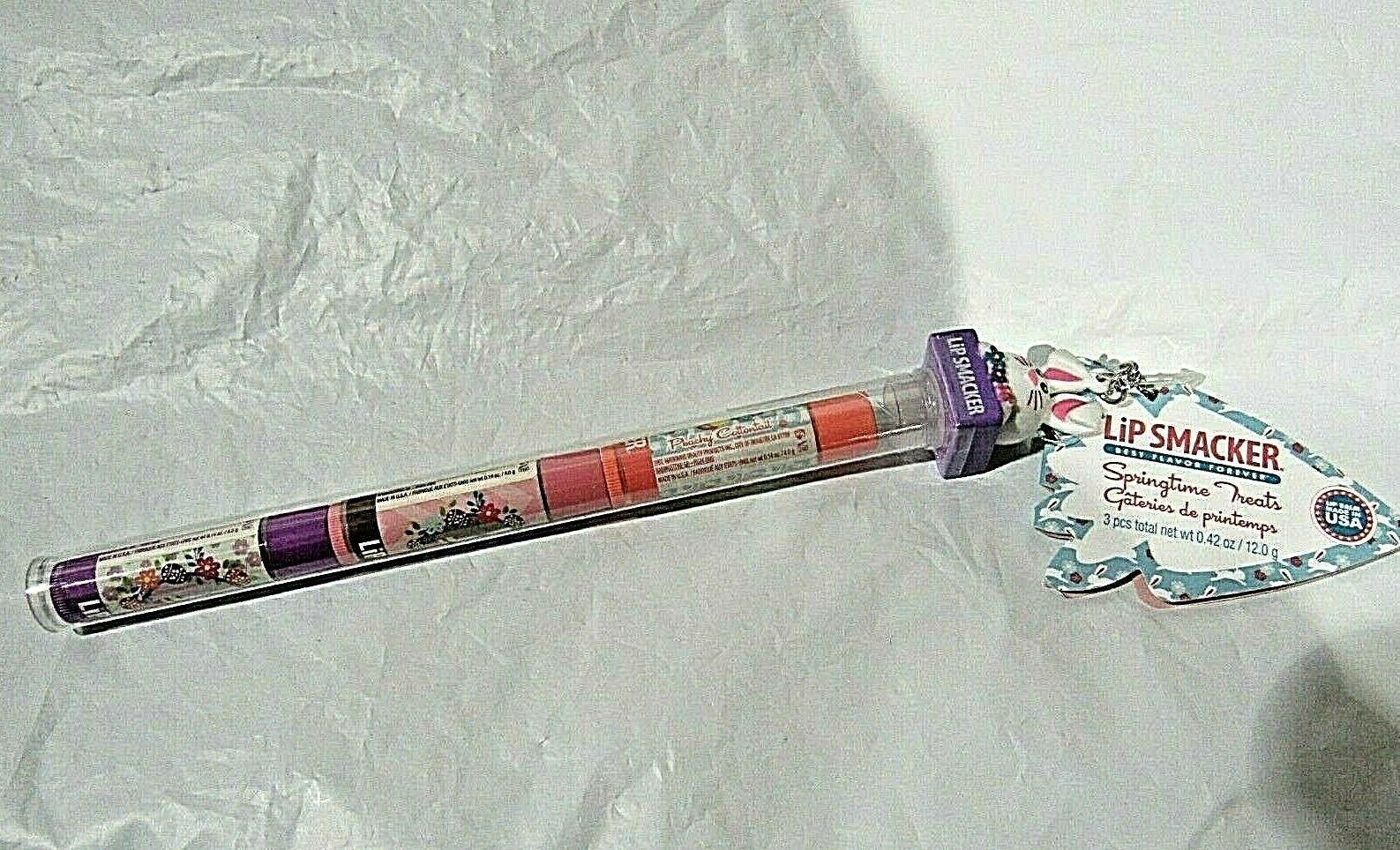 Lip Smacker Bunny Trio Balm Peachy Cottontail Chocolate Grape Jelly net wt.42oz - $17.99