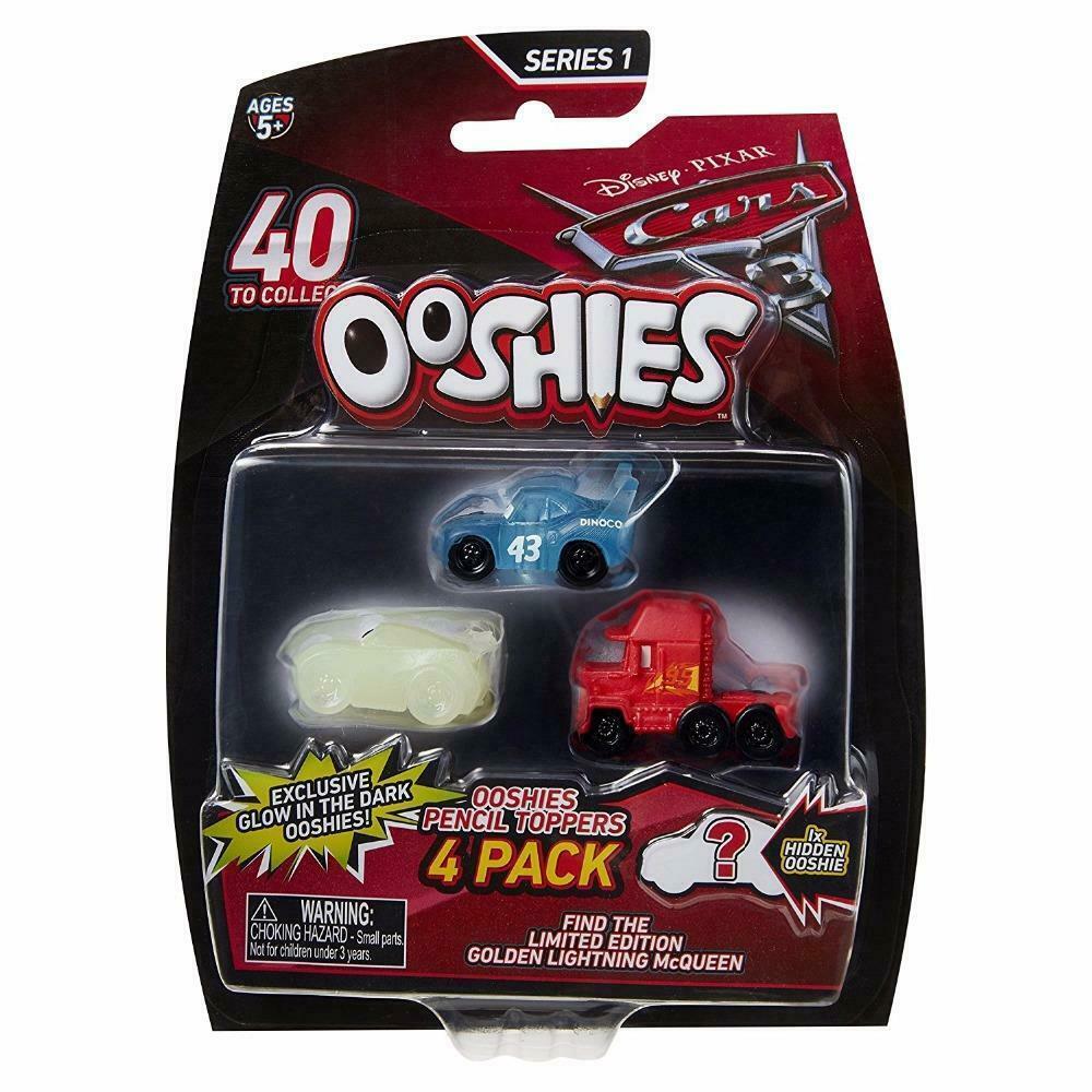 2017 Disney Pixar Cars 3 Movie Ooshies 4 Pack McQueen #43 King Mack Mystery