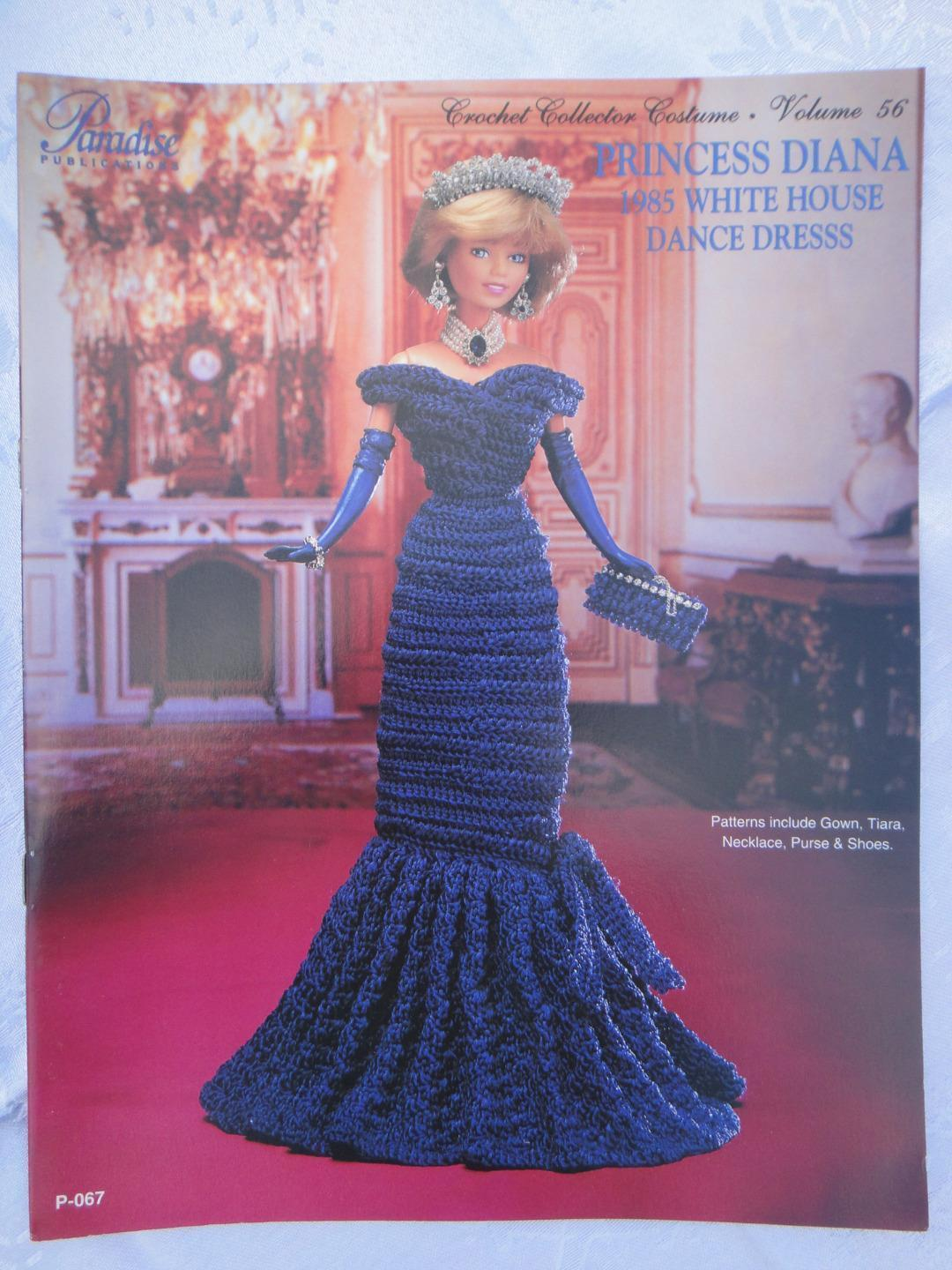 "Primary image for Paradise Crochet 11 1/2"" Doll Pattern PRINCESS DIANA '85 WHITE HOUSE DANCE DRESS"