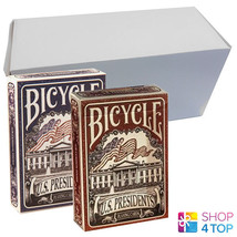 12 DECKS BICYCLE US PRESIDENTS 6 BLUE AND 6 RED DECKS PLAYING CARDS BOX ... - $79.38