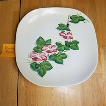 Red Wing Pottery Morning Glory Pink Dinner Plate (1) 1940's MCM - $3.71