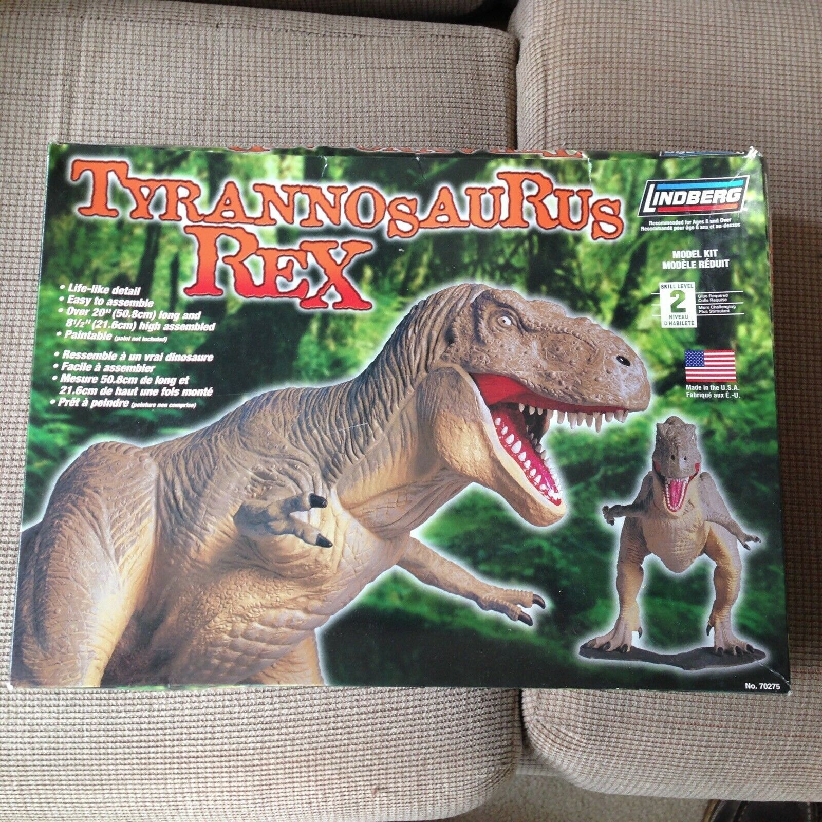 Primary image for T-Rex Tyrannasaurus Rex Lindberg Model Kit - Level 2 No. 70275 Unopened package