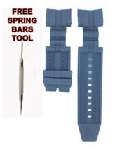 Compatible Invicta BOLT ZEUS 14403 26mm Blue Rubber  Watch Strap INV108 - $28.71