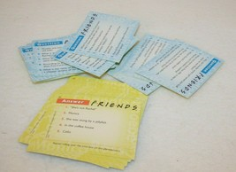 FRIENDS Trivia Game 2002 Replacement Cards Blue Yellow Questions Answers - $29.95