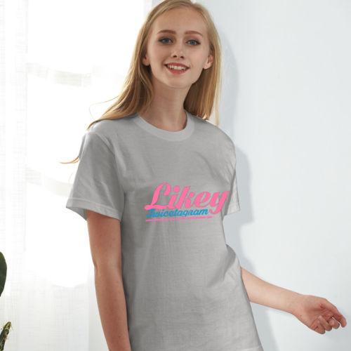 KPOP TWICE T-shirt Likely Tshirt Twicetagram Ablum Letter Tee MOMO Lim Na Yeon