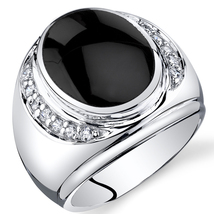 Men's Sterling Silver  Onyx Godfather Ring - $104.99