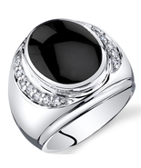 Men's Sterling Silver  Onyx Godfather Ring - $129.99