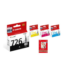 Canon CLI-726 BK/C/M/Y Ink Tanks (4pcs) +4R Photo Paper (20 Sheets) (for MG8170) - $84.99