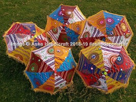 Indian Traditional Umbrellas Wholesale Lot Indian Sun Parasol Rajasthani... - $58.79