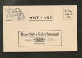 Vintage unused Post Card - postal card , Minnesota Three States Cedar Co... - $2.80