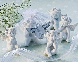 24 Little Angel Cherub Figurine Baptism Baby Shower Wedding Favor in Org... - $71.20