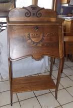 Carved Chestnut Drop Front Secretary Desk - $599.00